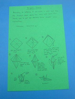 INSTRUCTIONS FOR ORIGAMI CRANES